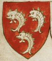 Blennerhassett arms, Cumberland, in Thomas Jenyn's Book, c1410