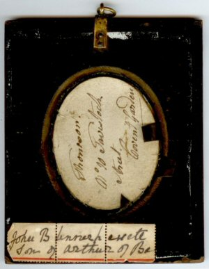 Portrait of John Blennerhassett, son of Arthur, of Ba... - reverse