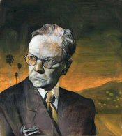 Raymond Chandler, portrait by Scott Laumann