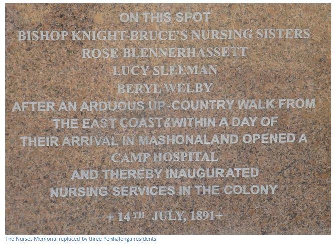 Pioneer Nurses' Memorial Garden - replacement plaque in marble